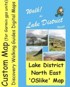 OSlike Map Lake District North East small