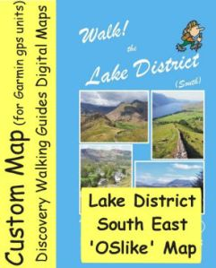 OSlike Map Lake District South East small