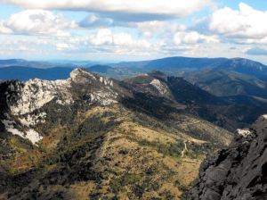 On the Peyrepertuse Ridge, Cathar Way