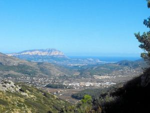 View over the coastal plain from the Costa Blanca Mountains