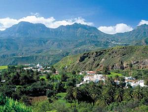 Gran Canaria long view with village small