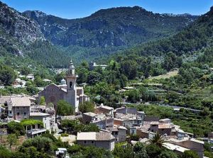 The Mallorcan town of Valldemossa