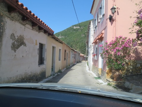 The 'main road' through Ano Korakiana, Corfu.