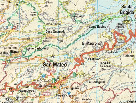 Sample segment, Gran Canaria.