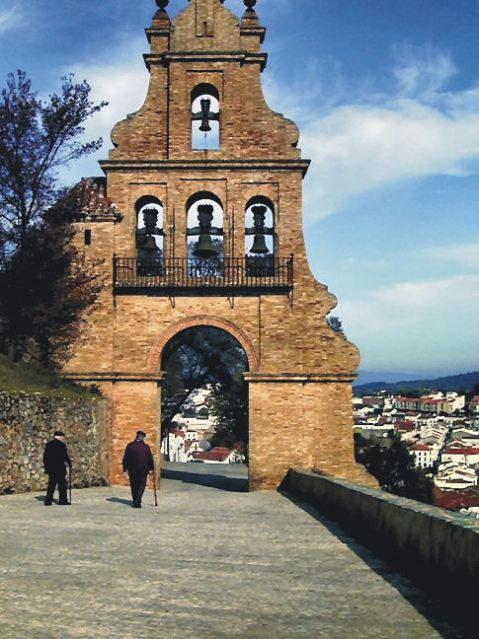 The entrance to Aracena Castle