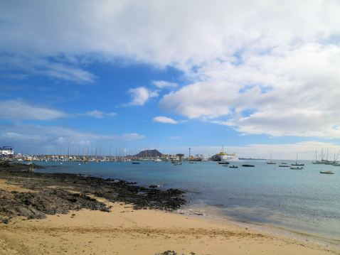 Looking across to Corralejo (Fuerteventua)